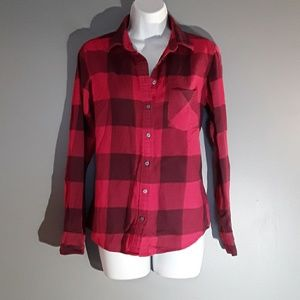 Uniqlo Red & Black Flannel Shirt, M